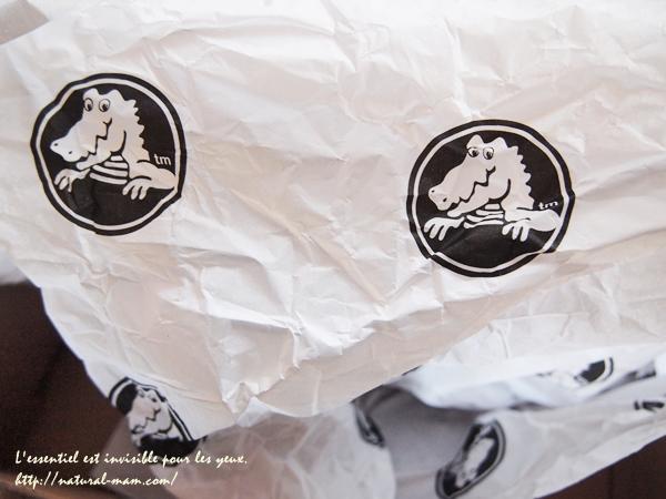 クロックスのワニ包装紙
