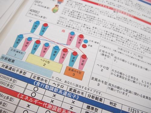 遺伝子ダイエットキットの結果レポート5