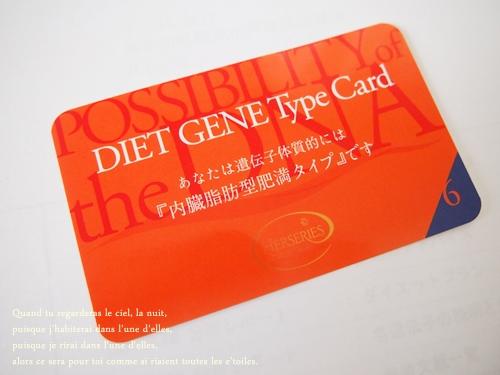 遺伝子ダイエット検査の結果内臓脂肪型ということが判明