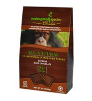 Endangered Species Chocolate, All-Natural Supreme Dark Chocolate, 10 Pieces, 10 g Each