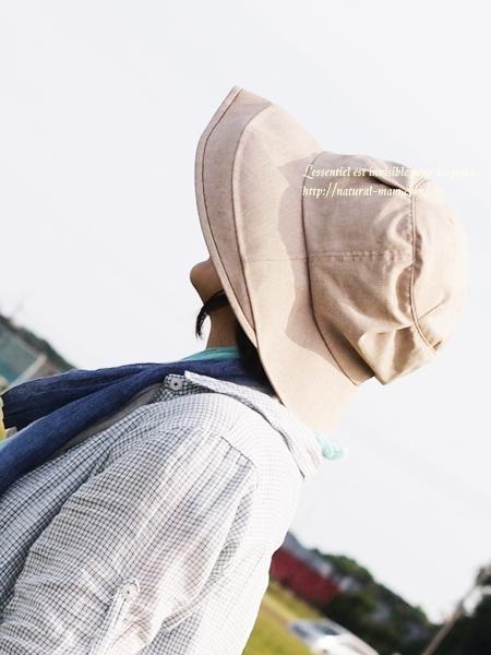 ベルメゾンUV帽子アップ