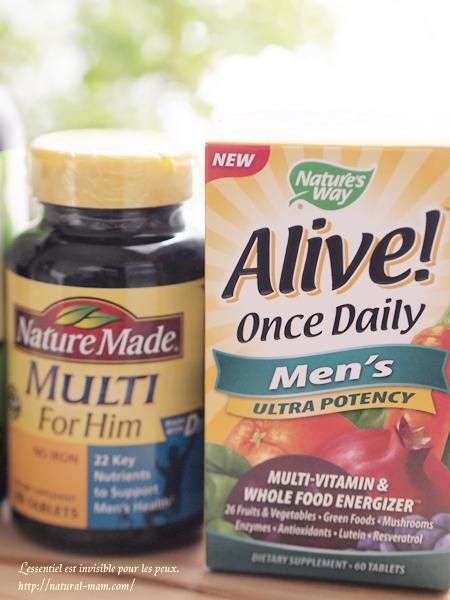 アイハーブで買ったネイチャーメイドとネイチャーズウェイの男性用サプリメント