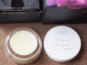 HANAオーガニック練り香水のテクスチャー