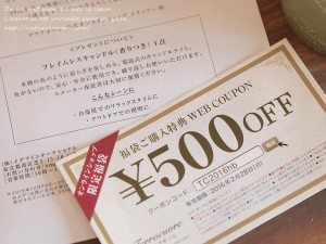 テラクオーレ福袋の500円クーポン