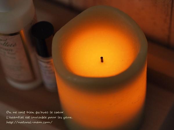 テラクオーレおまけのLEDキャンドルはシトラスの香りつき