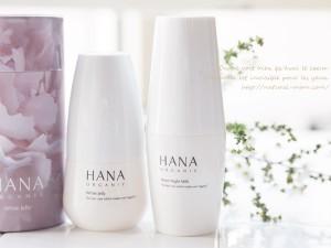 HANAオーガニック美白ライン、ホワイトジェリーとムーンナイトミルク