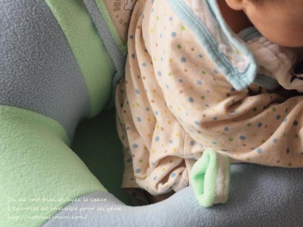hugaboo(ハガブー)に赤ちゃんを座らせたときの胴回り