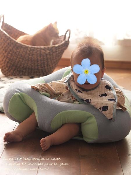 hugabooに座る赤ちゃん