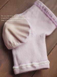 かかとケア用靴下ツバキを裏返したところ