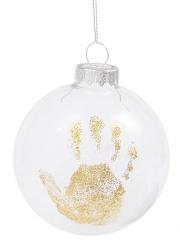 赤ちゃんの手形をクリスマスオーナメントに