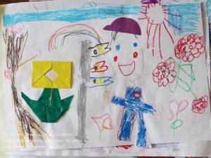 保育園の子供の作品をフォトブックにする準備