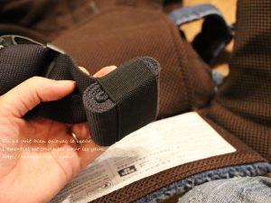 キューズベリーのデニム抱っこ紐、腰のベルトの収納