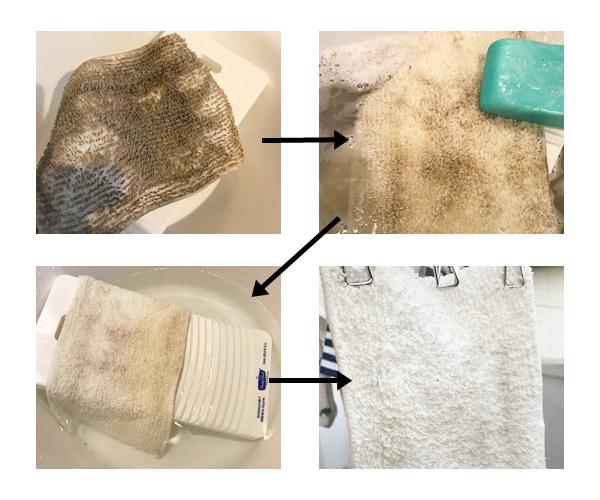 ショップジャパンのラクラシー スチームモップでお掃除の後のモップの洗濯